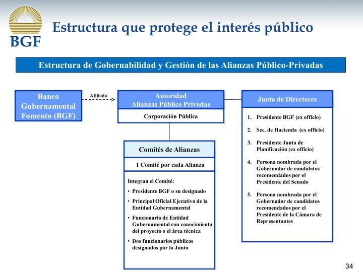 Estructura que protege el interés público