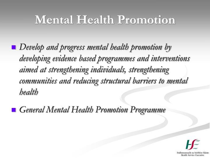Mental Health Promotion