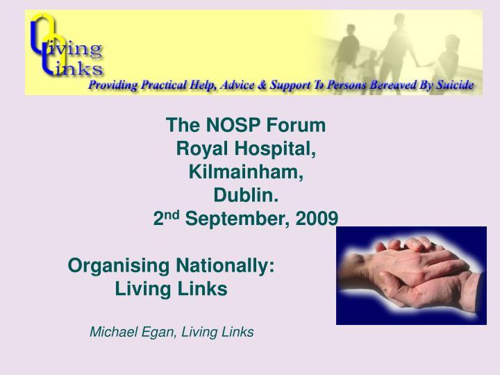 The NOSP Forum