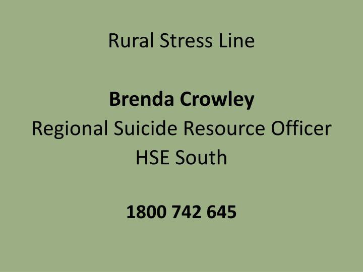 Rural Stress Line