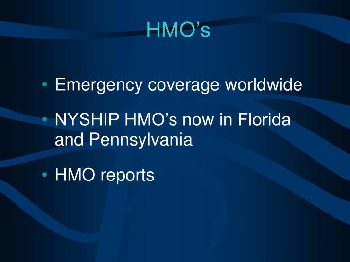 Emergency coverage worldwide