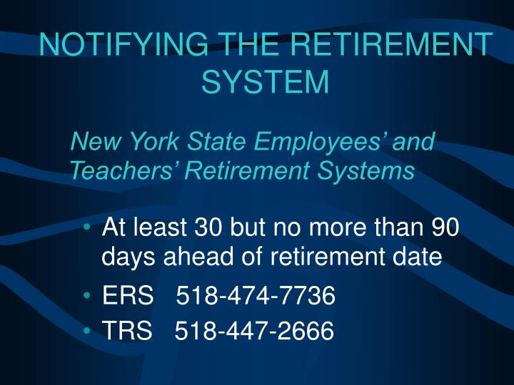 New York State Employees' and Teachers' Retirement Systems