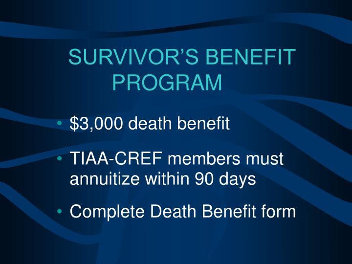 $3,000 death benefit