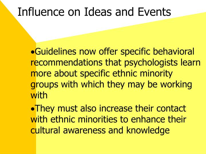 Influence on Ideas and Events