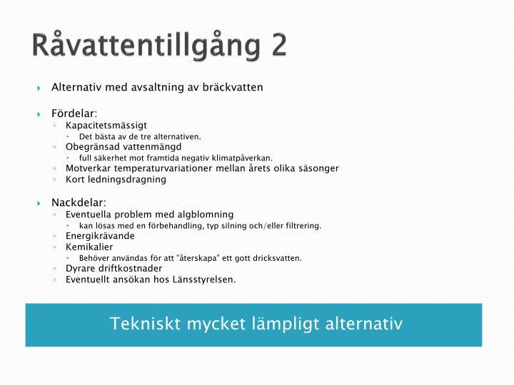 Råvattentillgång 2