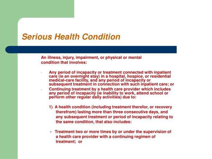 An illness, injury, impairment, or physical or mental