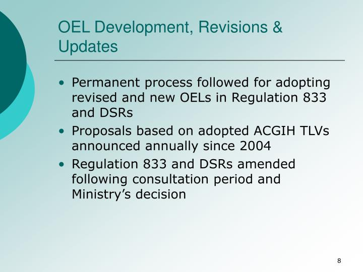 OEL Development, Revisions & Updates