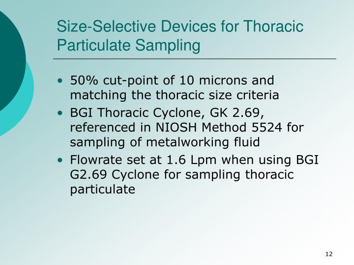 Size-Selective Devices for Thoracic Particulate Sampling