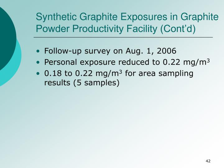 Synthetic Graphite Exposures in Graphite Powder Productivity Facility (Cont'd)