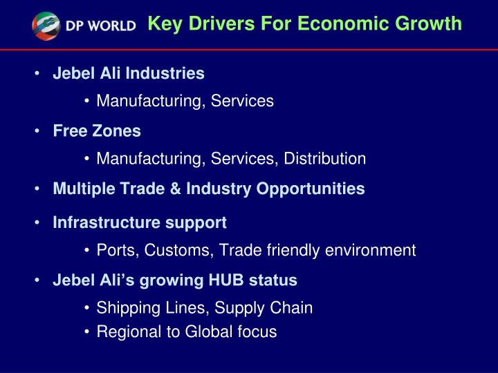 Key Drivers For Economic Growth