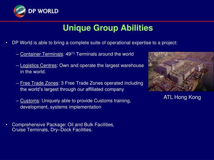 Unique group abilities