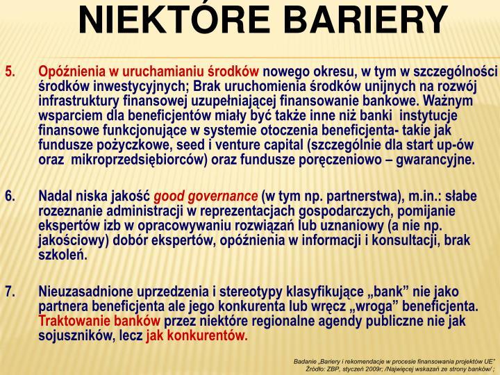 NIEKTÓRE BARIERY
