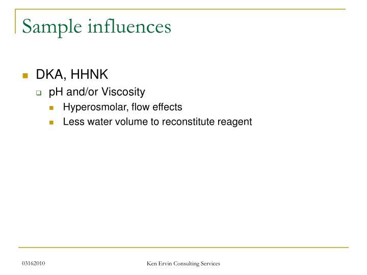 Sample influences
