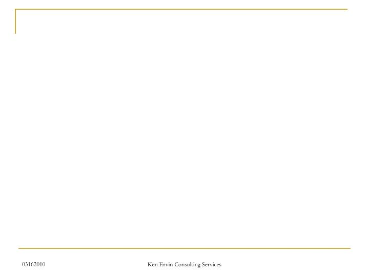 Ken Ervin Consulting Services