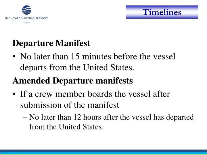 Departure Manifest