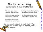 martin luther king by raymond richard patterson