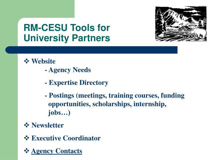 RM-CESU Tools for
