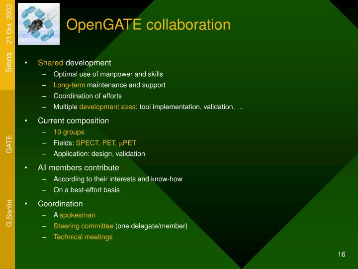 OpenGATE collaboration