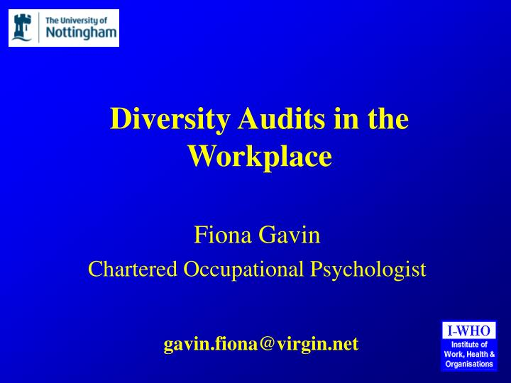 diversity audits in the workplace n.
