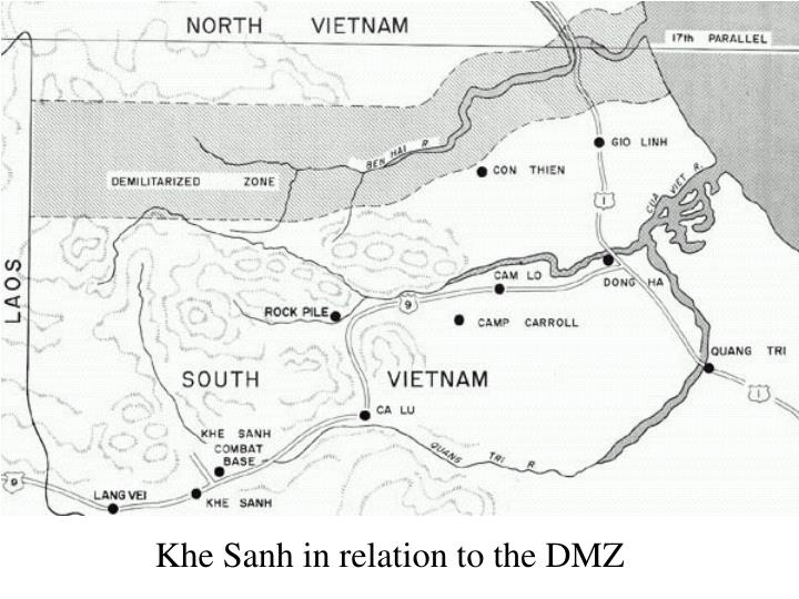 Khe Sanh in relation to the DMZ