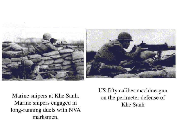 US fifty caliber machine-gun on the perimeter defense of Khe Sanh