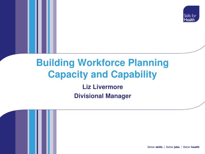 building workforce planning capacity and capability n.