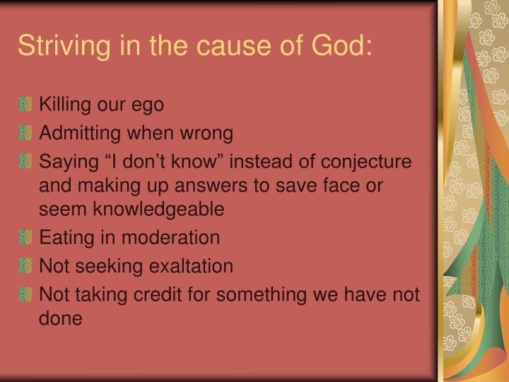 Striving in the cause of God: