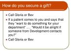 how do you secure a gift
