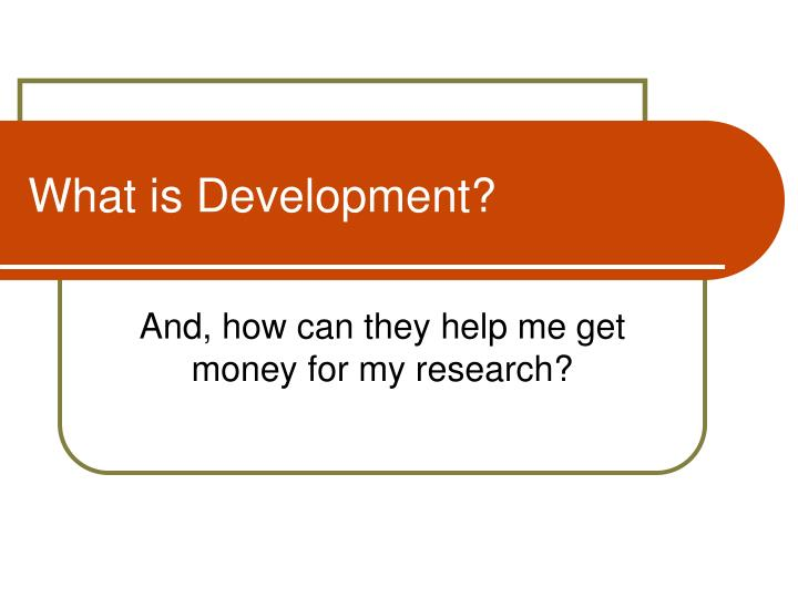 what is development n.