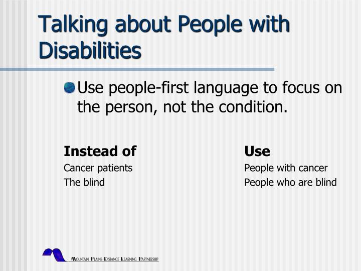 Talking about People with Disabilities