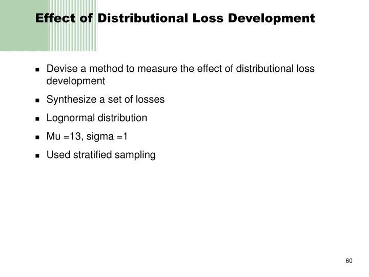 Effect of Distributional Loss Development