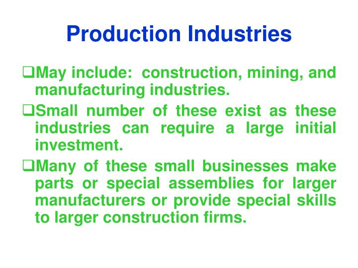 Production Industries