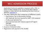 wlc admission process