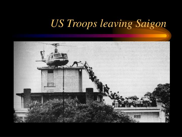 US Troops leaving Saigon