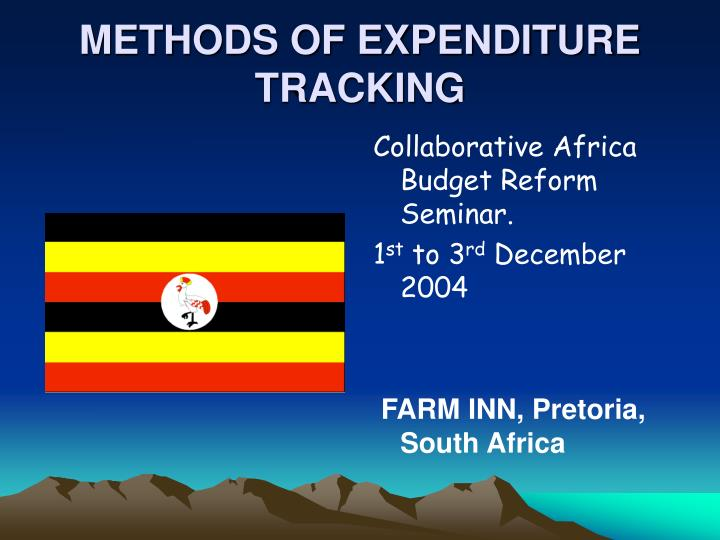 methods of expenditure tracking n.