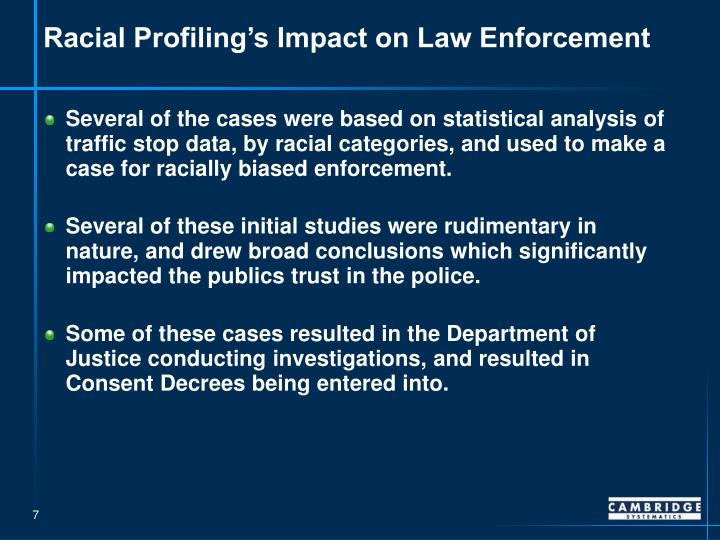racial profiling in the law