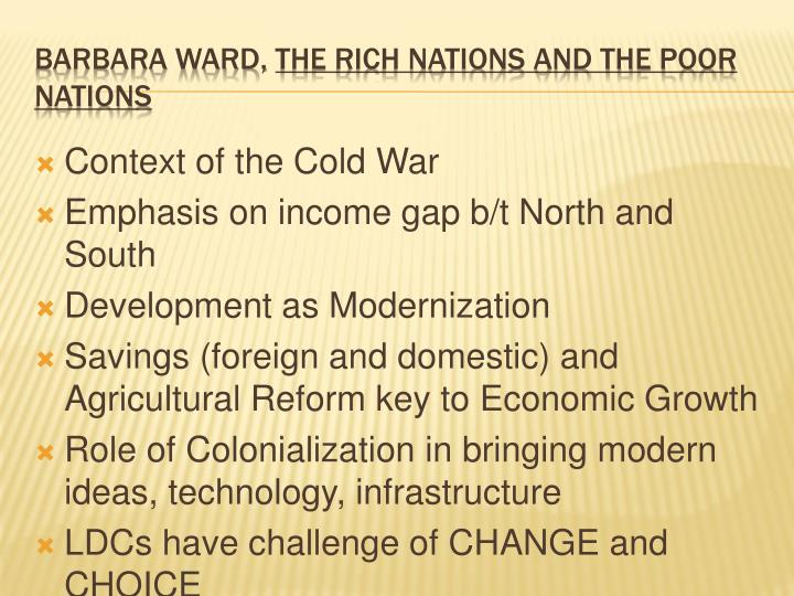 Barbara ward the rich nations and the poor nations