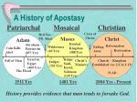 a history of apostasy