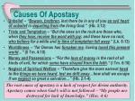 causes of apostasy