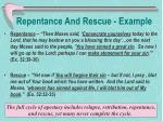 repentance and rescue example