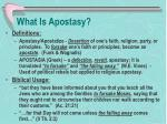 what is apostasy