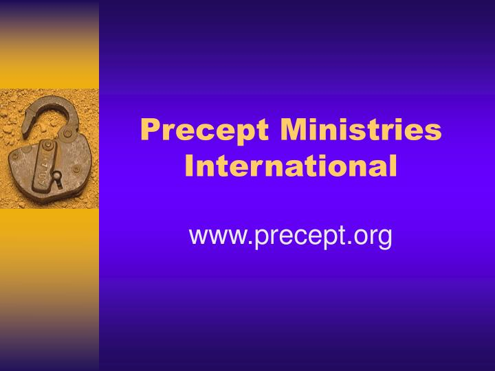 Precept Ministries