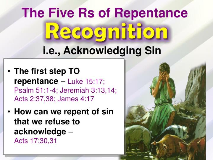The Five Rs of Repentance