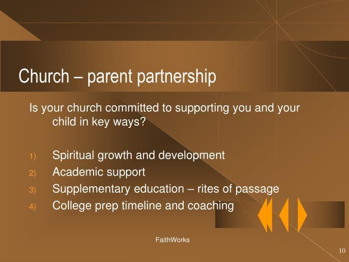 Church – parent partnership