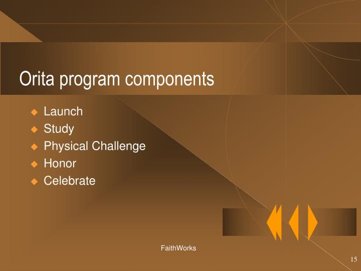 Orita program components