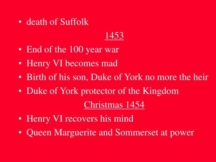 death of Suffolk