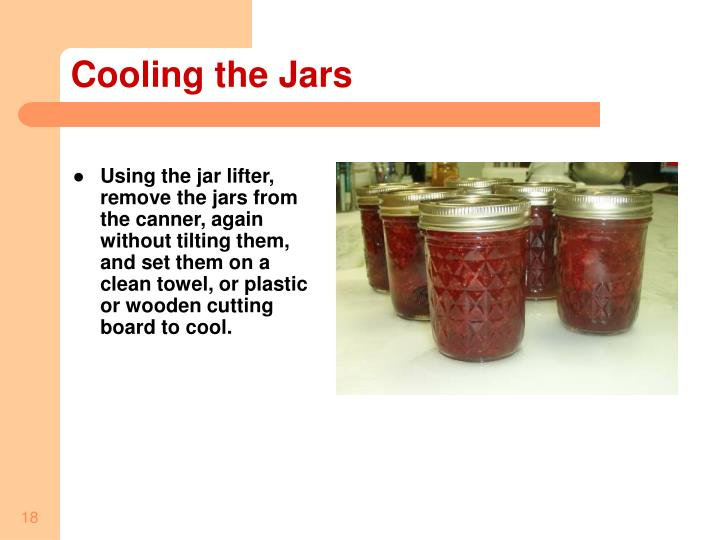 Cooling the Jars