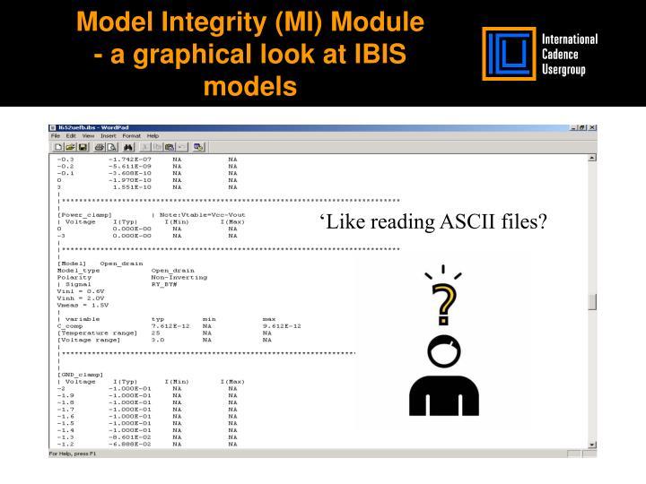 Model Integrity (MI) Module