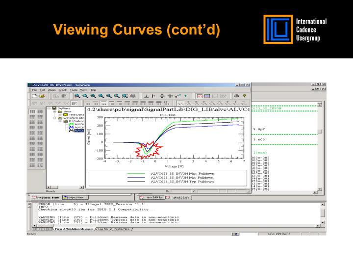 Viewing Curves (cont'd)