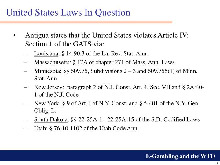 United States Laws In Question